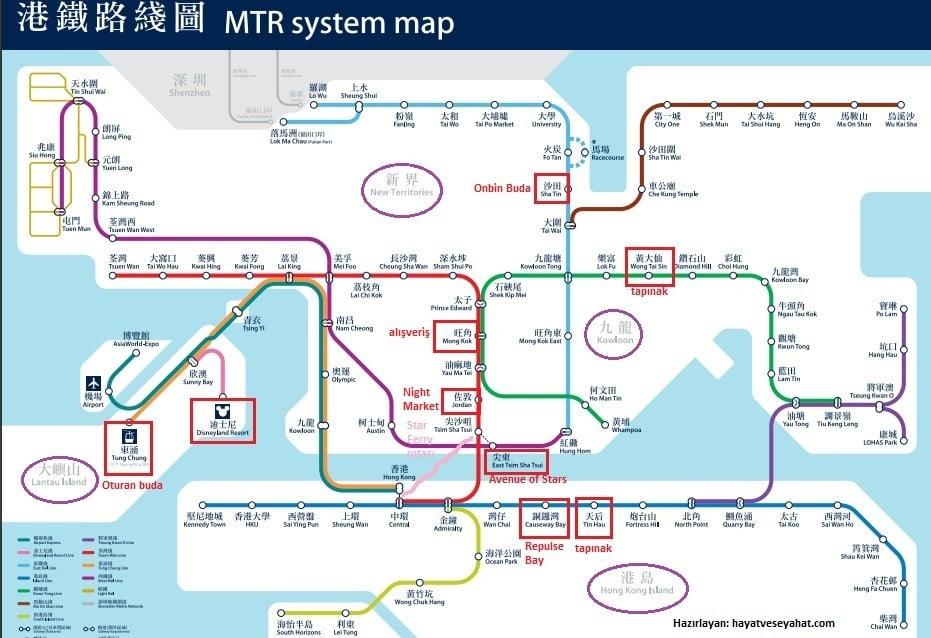 hong kong metro haritası