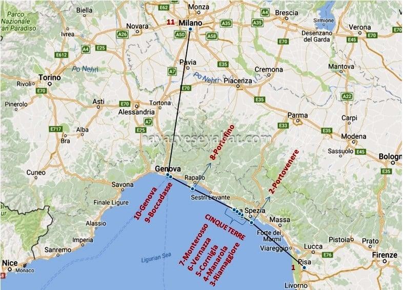 cinque terre gezi planı