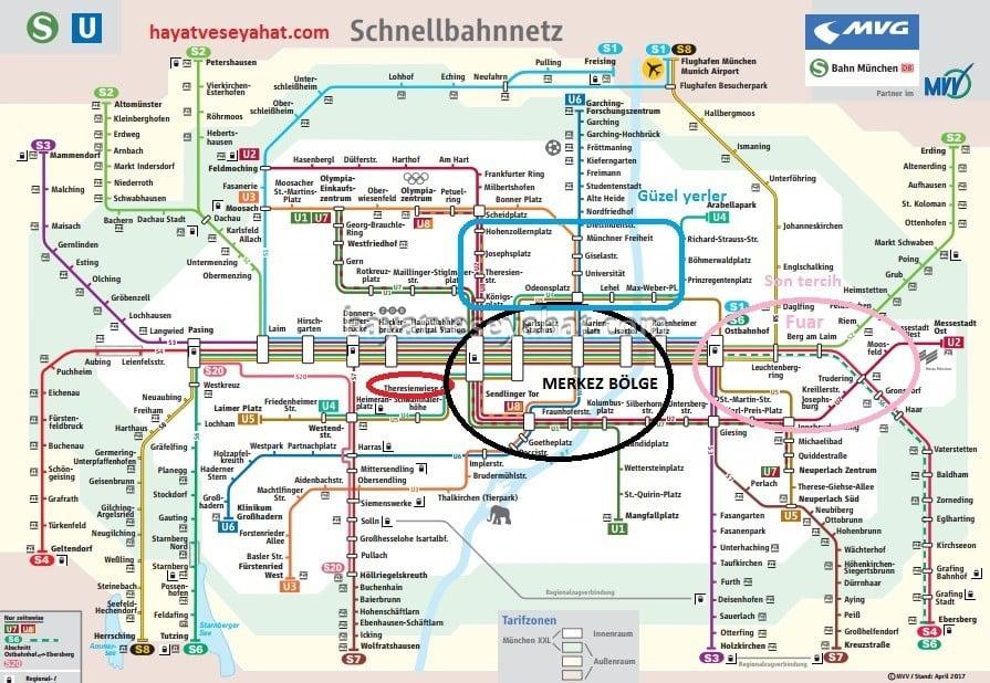 münih metro haritası