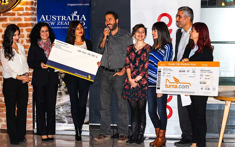 Yarışmada ilk üçe girerek sponsor firmalardan ödüllerimizi aldık.