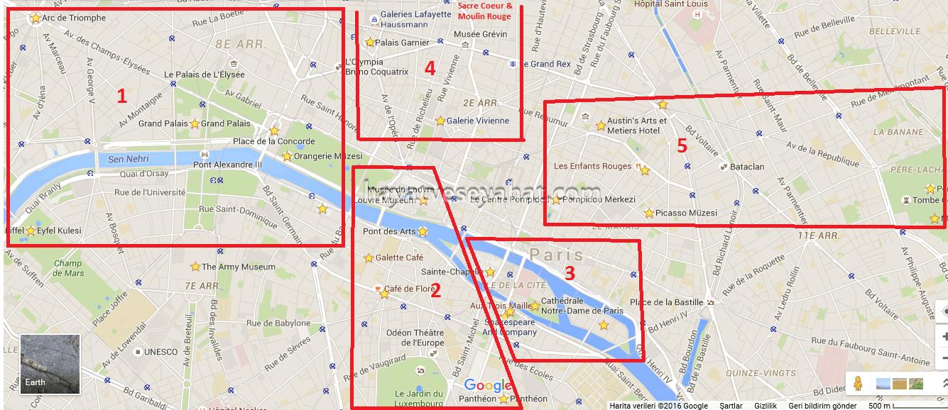 Birbirine yakın olan görülecek yerleri gruplamaya çalıştım.