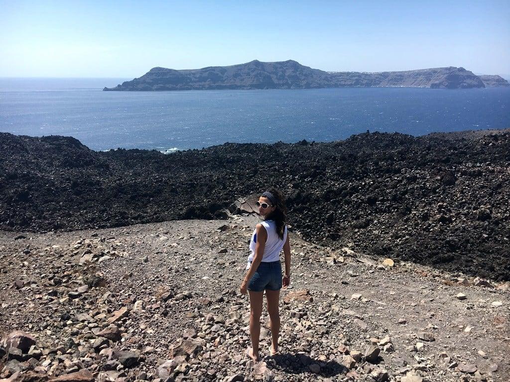 santorini volkanı