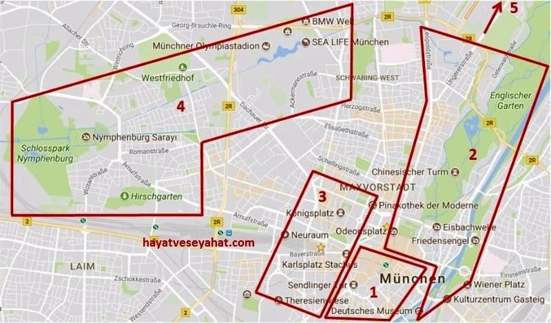münih haritası