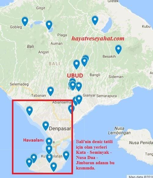 bali haritası