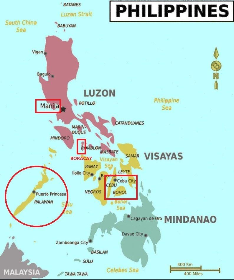 filipinler haritası