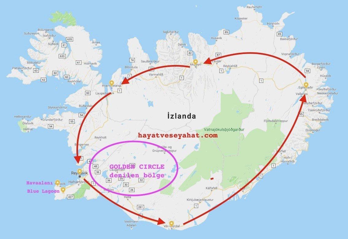 izlanda haritası