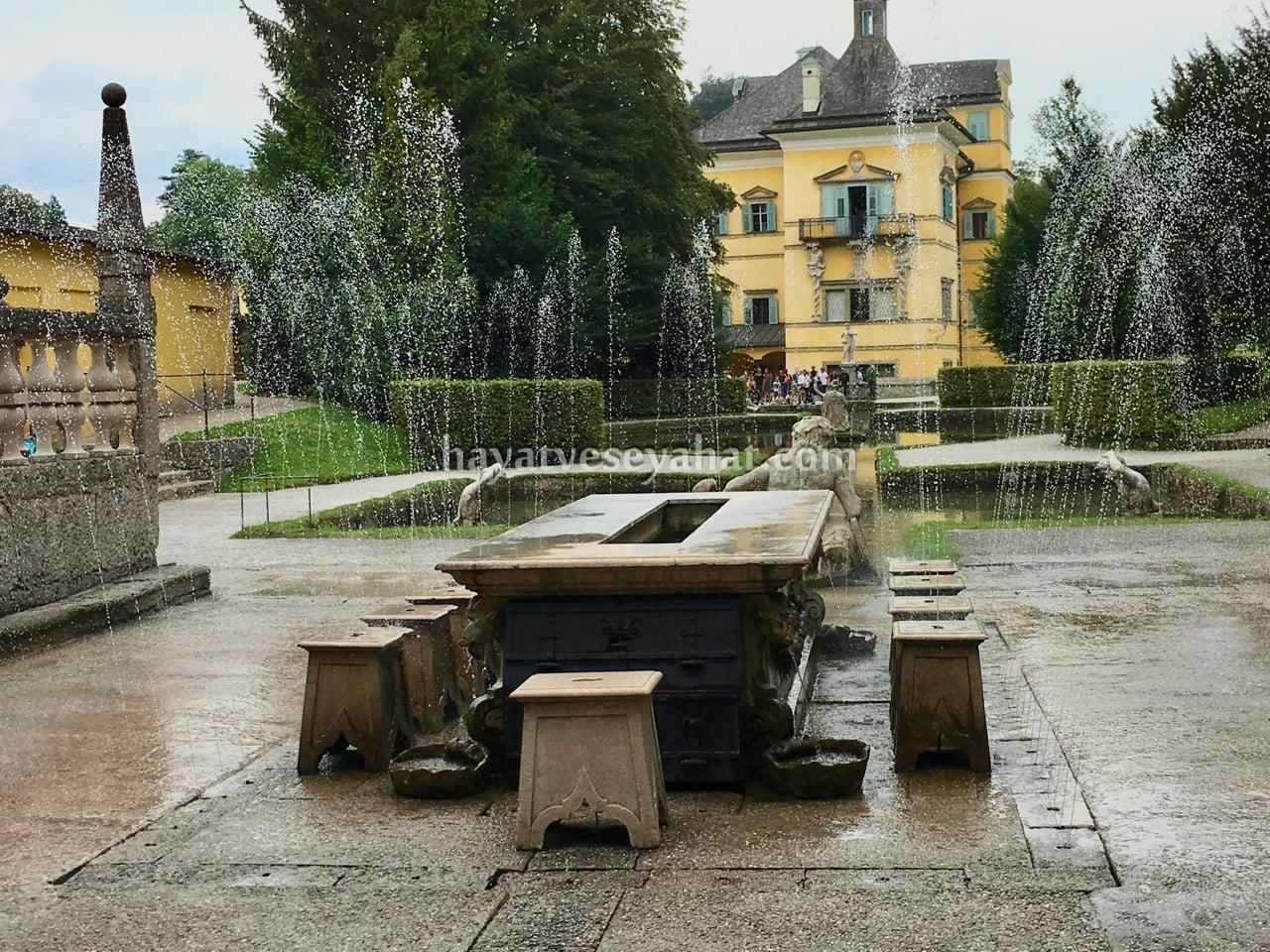 hellbrunn sarayı çeşmeleri