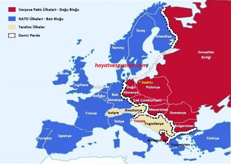 demir perde haritası