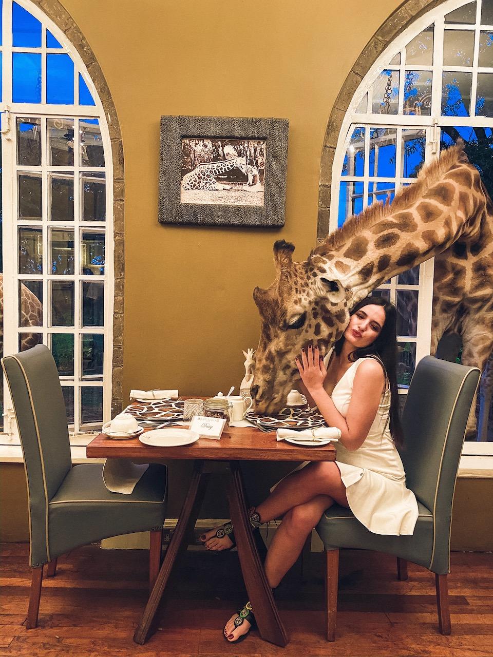 nairobi kenya zürafa otel