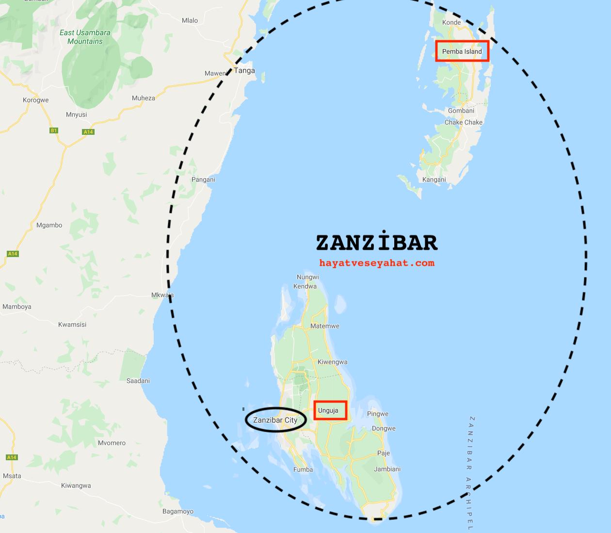 zanzibar haritası
