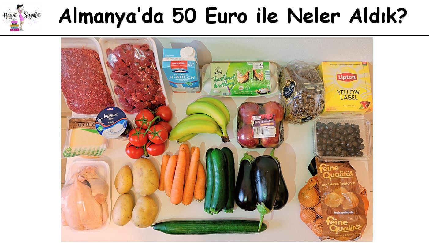 Almanyada 50 Euro ile alışveriş
