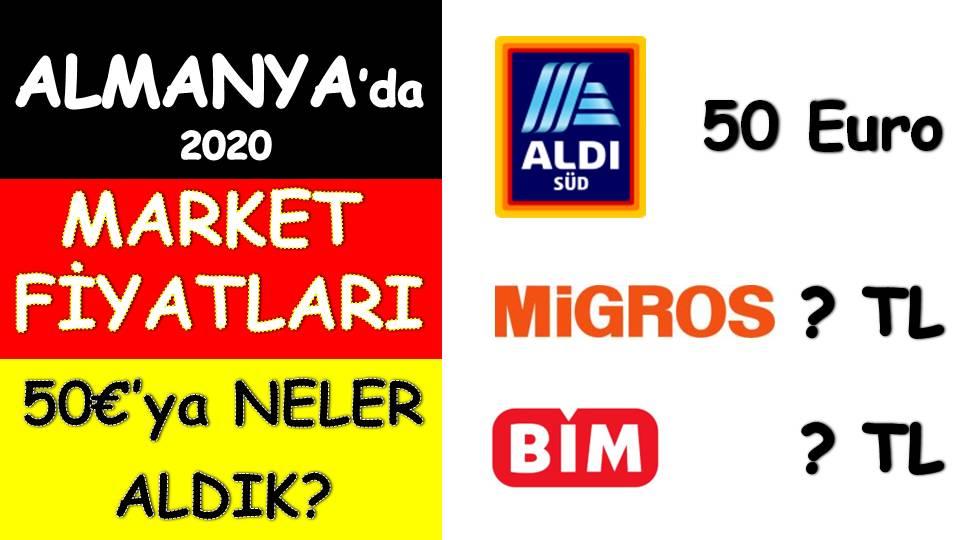 Almanya Türkiye market fiyatları karşılaştırması