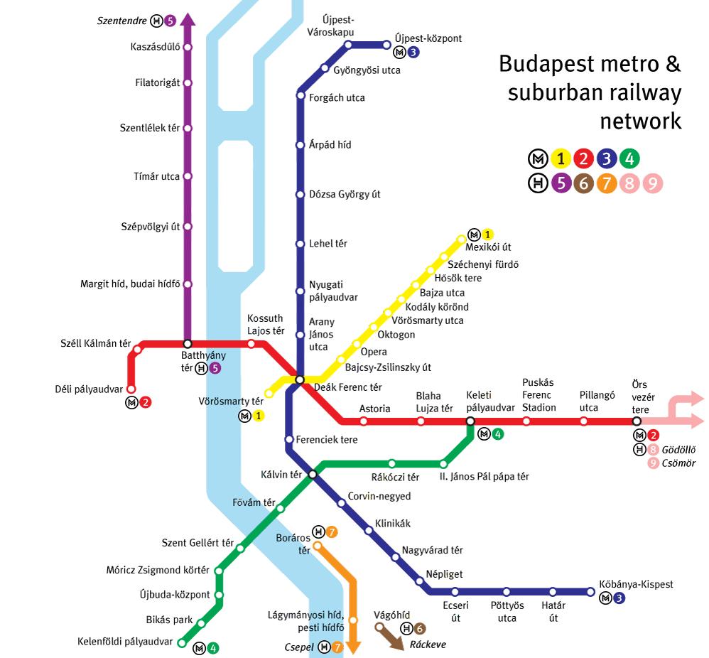 budapeşte metro haritası